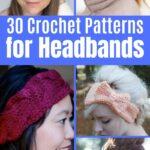 Crochet Headband collage