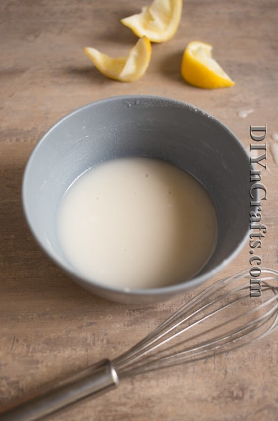 The glaze is made from powdered sugar and lemon juice and adds just the right touch of sweetness
