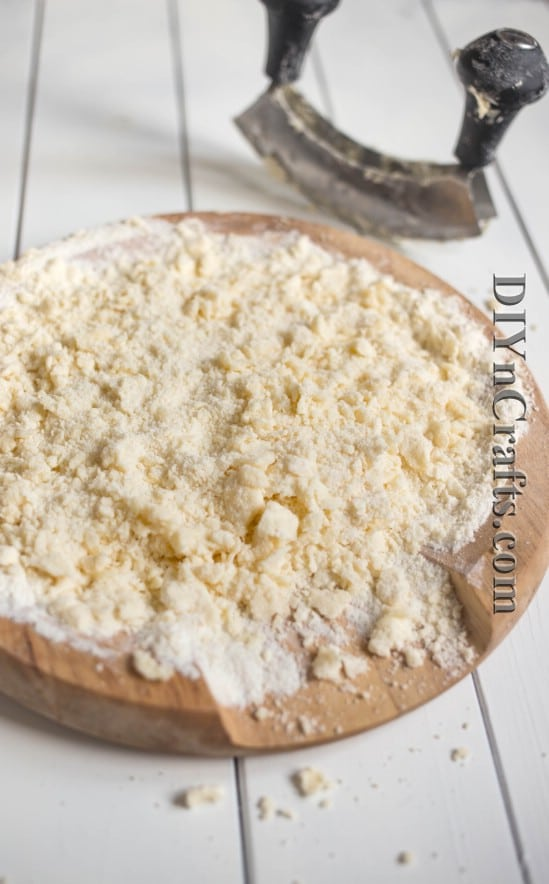 Flour, sugar, and butter create a not so traditional cheesecake crust that is delectable