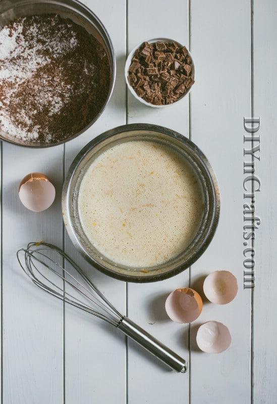 Preparing ingredients: