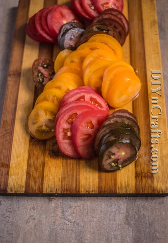 Different varieties of tomatoes give this salad a beautiful color