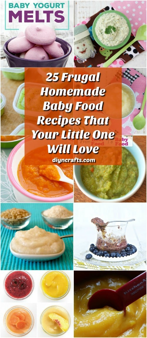 25 Money Saving Homemade Baby Food Recipes That Your Little One Will Love