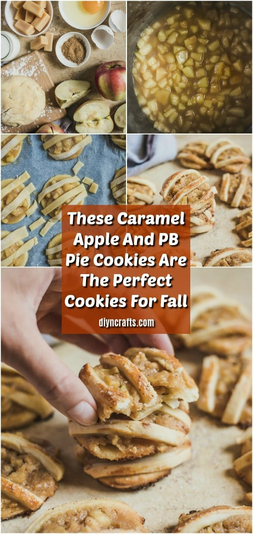 Caramel Apple And PB Pie Cookies Recipe - If you want a relatively quick and easy recipe that is chocked full of delicious fall flavors, these caramel apple and peanut butter pie cookies are it! I hope your family enjoys them as much as mine has! #recipe #pie #apple #caramel #cookies #fall #recipe