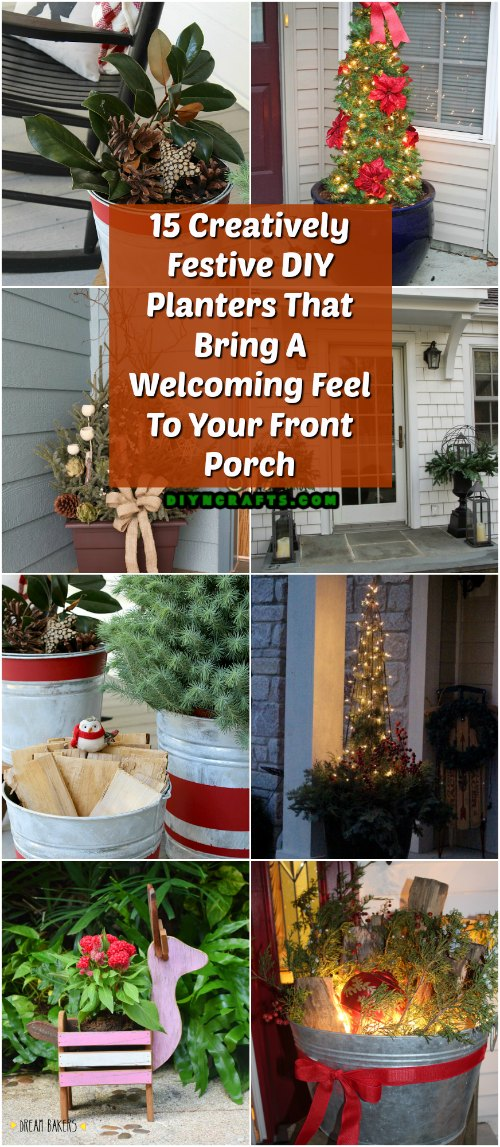 15 Creatively Festive DIY Planters That Bring A Welcoming Feel To Your Front Porch