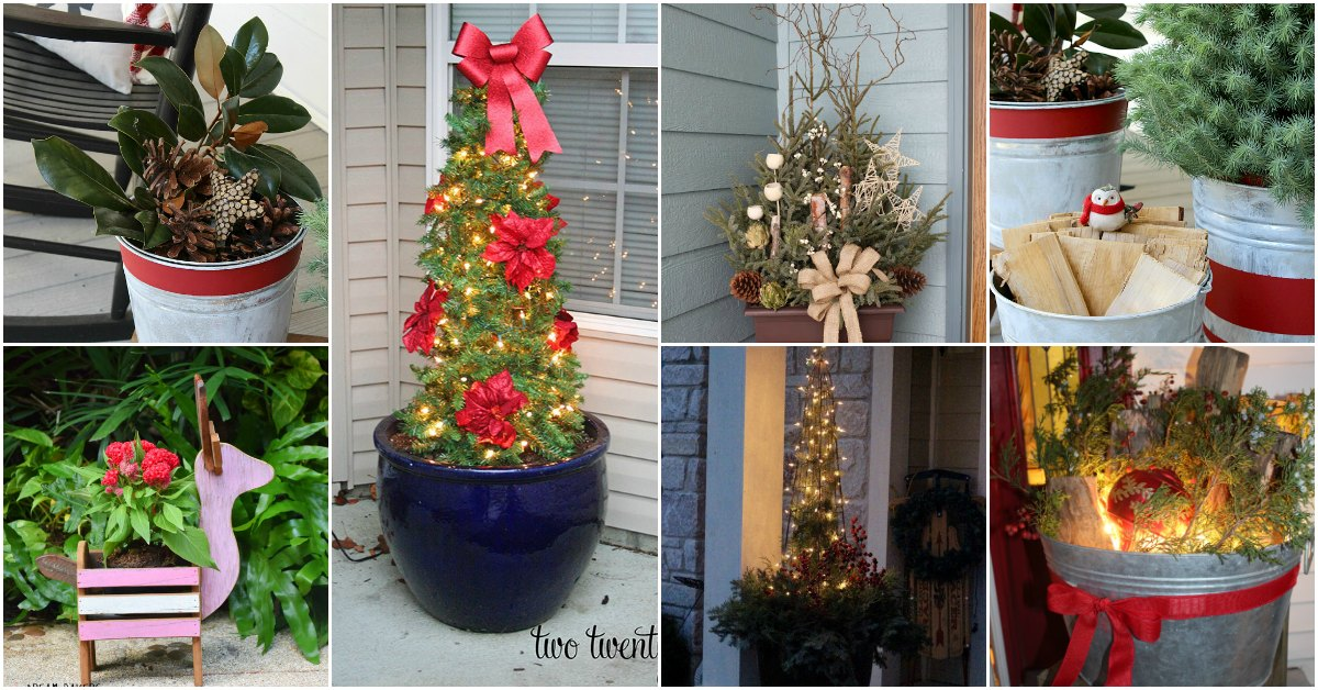 15 Creatively Festive DIY Planters That Bring A Welcoming