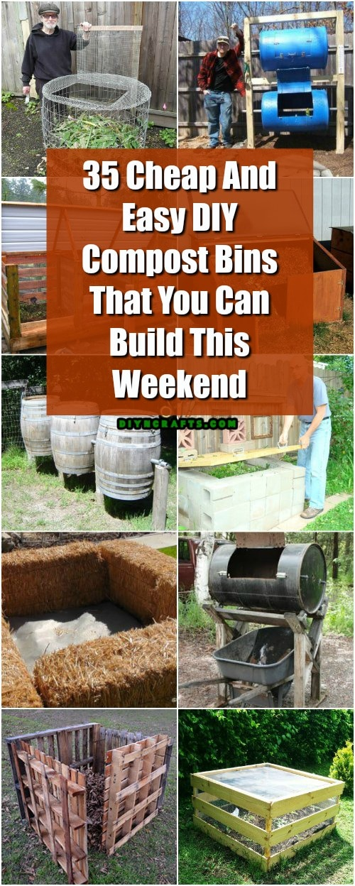 35 Cheap And Easy Diy Compost Bins That You Can Build This