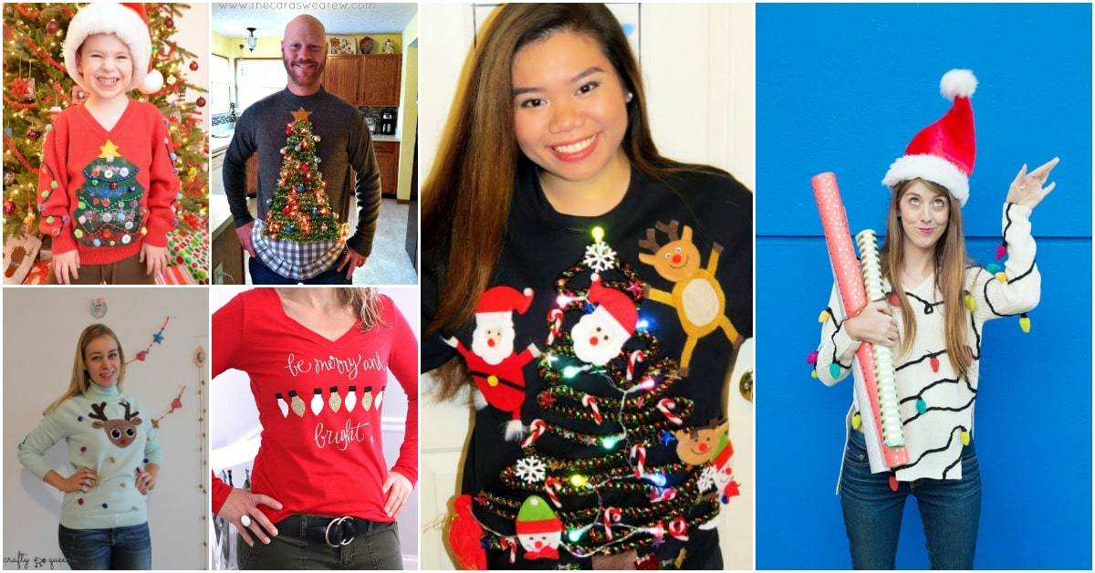 Ugly Christmas Skirt Ideas.15 Fun Ugly Christmas Sweaters You Can Easily Diy Diy Crafts