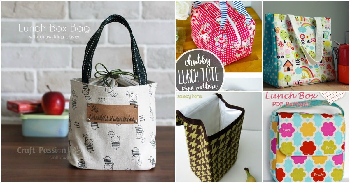 10 Easy To Sew Diy Lunch Bags And