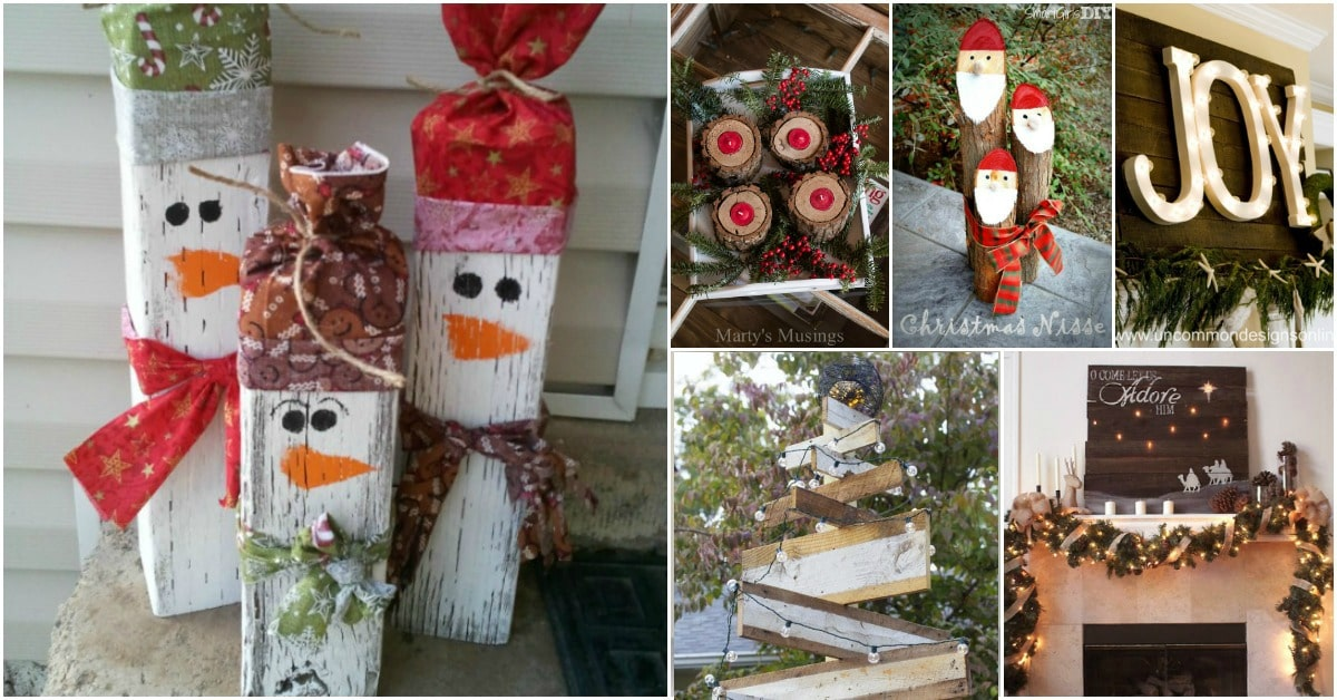 25 Reclaimed Wood Christmas Decorations To Add Rustic Charm