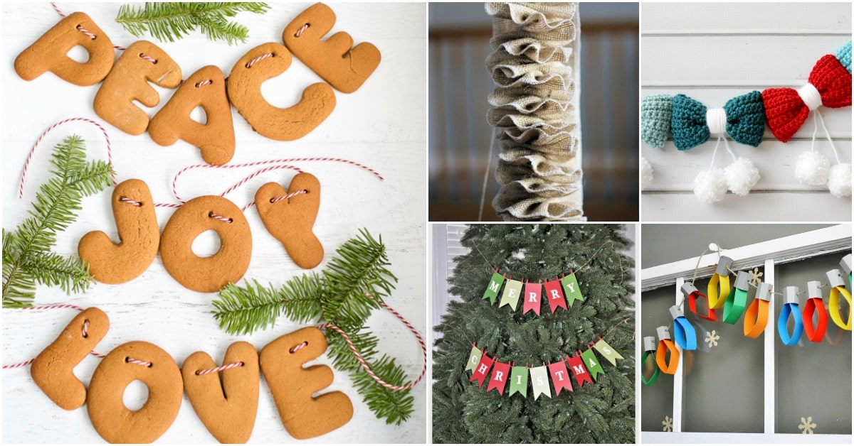 25 Diy Garland Ideas To Dress Up Your Home This Holiday Season Diy Crafts