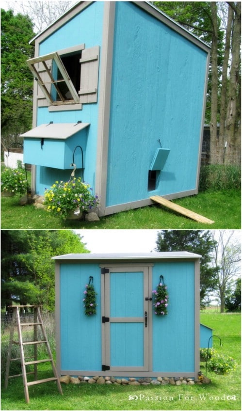 Classic Gardening Shed Styled Chicken Coop