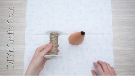 Twine Christmas Tree - 5 Easy Ways to Make Cute Miniature DIY Christmas Trees