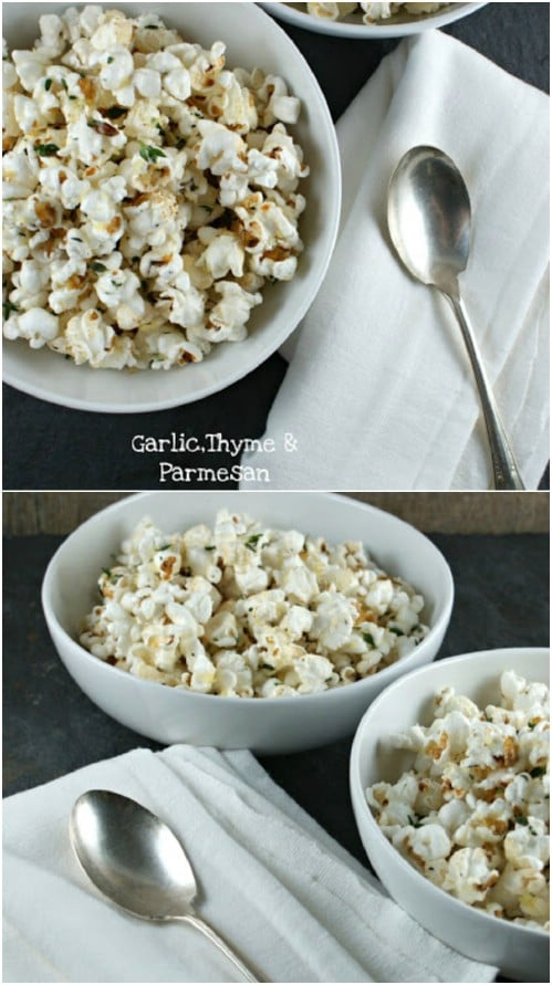 Gourmet Garlic, Thyme And Parmesan Popcorn