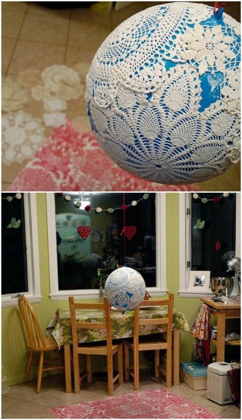 Gorgeous Bohemian Doily Lamp