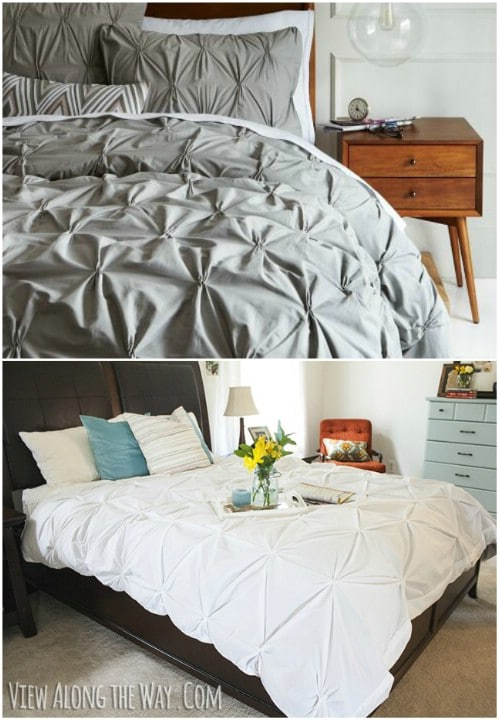 DIY Pin Tuck Duvet