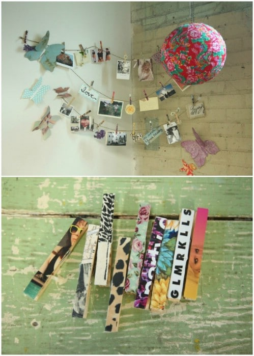 DIY Inspirational Clip Garland