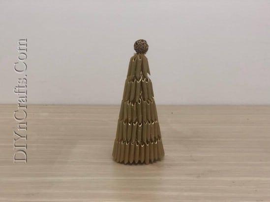Pasta Christmas Tree - 5 Easy Ways to Make Cute Miniature DIY Christmas Trees