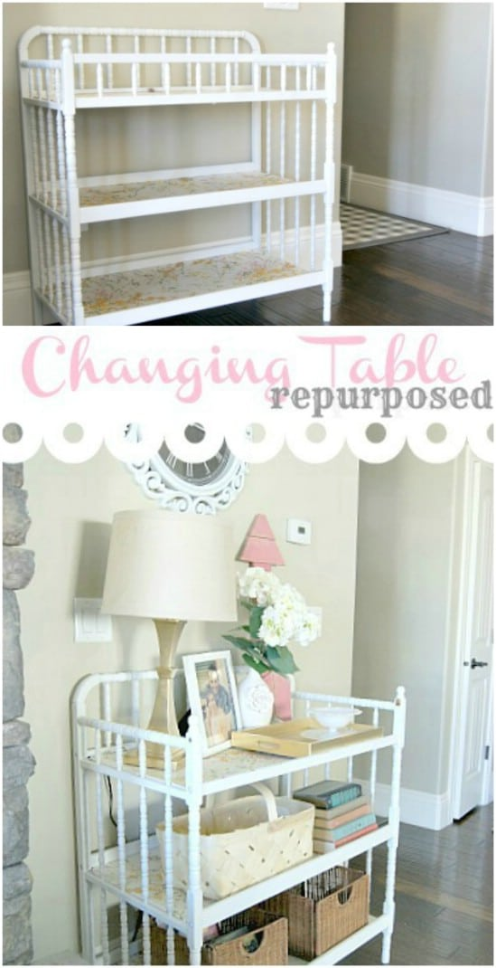 Gorgeous DIY Entryway Table