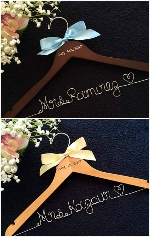 Wood Hanger Wedding Shower Gift