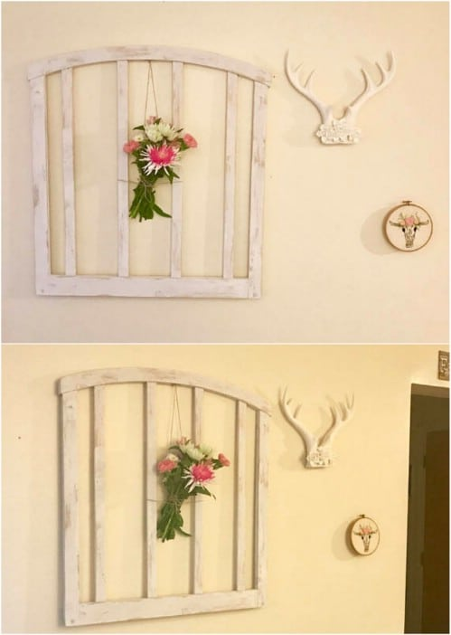 Upcycled Bed Frame Wall Décor