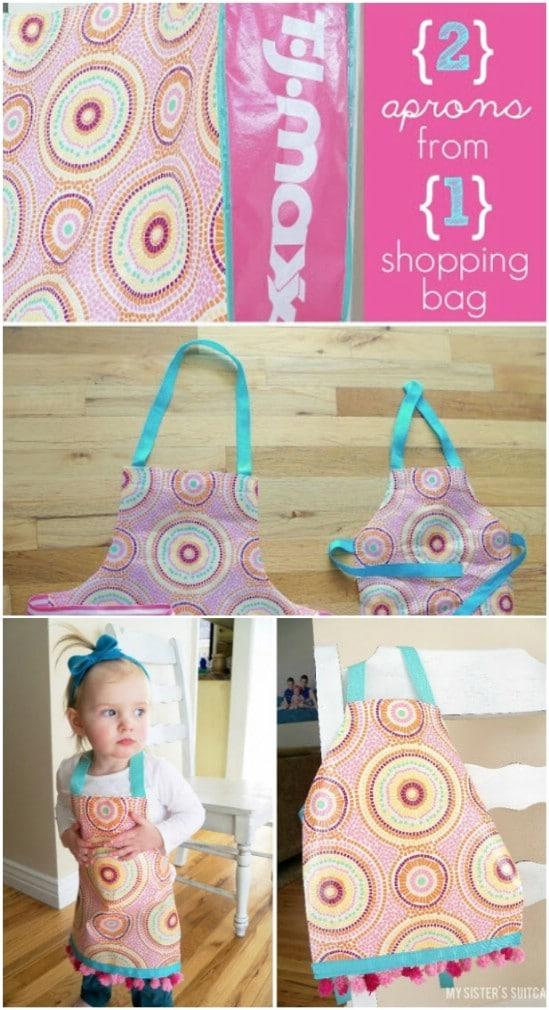 Upcycled Shopping Bag Apron