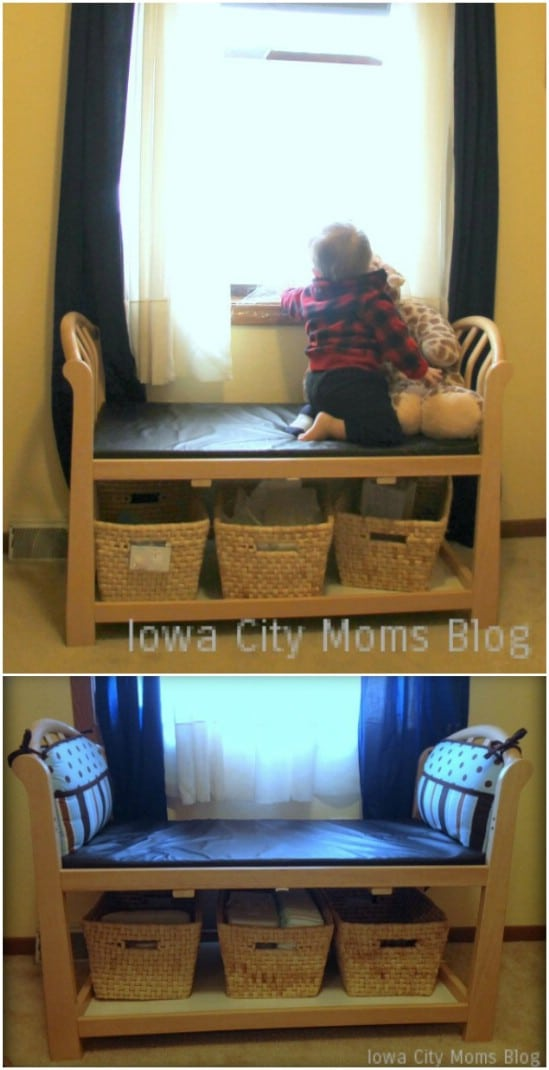 Repurposed Changing Table Window Seat