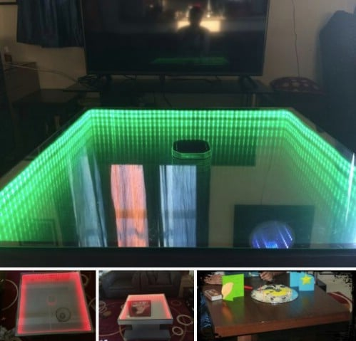 Upcycled Coffee Table Infinity Table