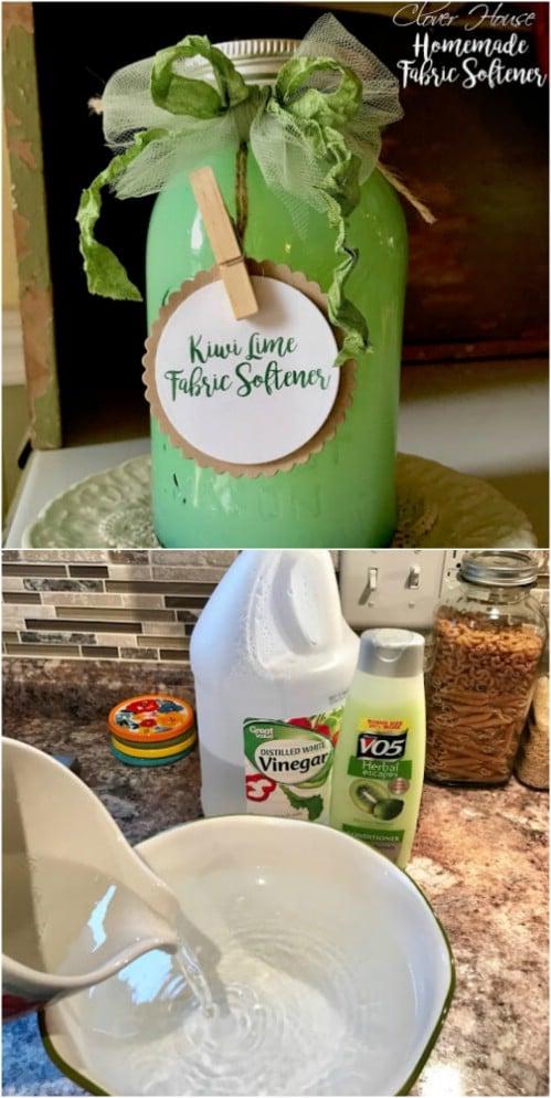Homemade Kiwi Lime Fabric Softener