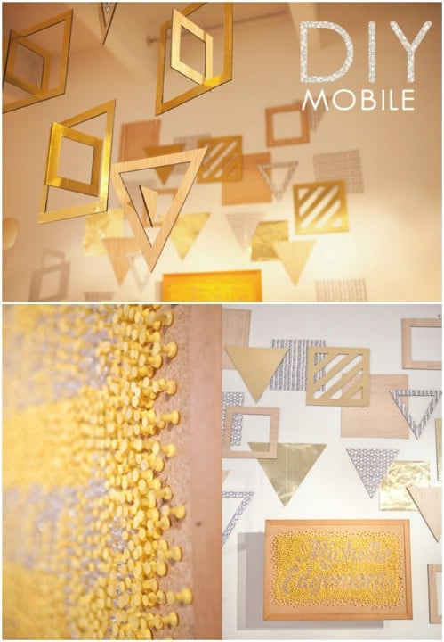 Metallic Foam Crib Mobile