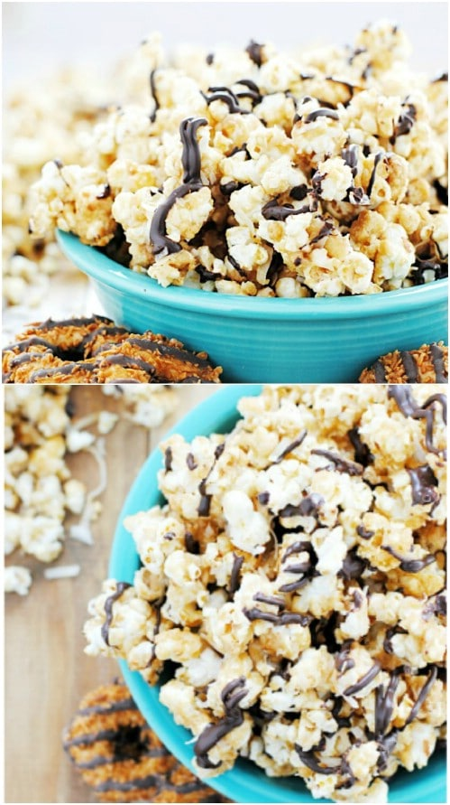 Yummy Homemade Samoas Popcorn