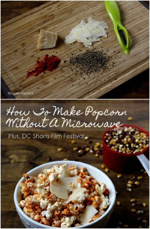 Paprika, Pepper And Parmesan Popcorn
