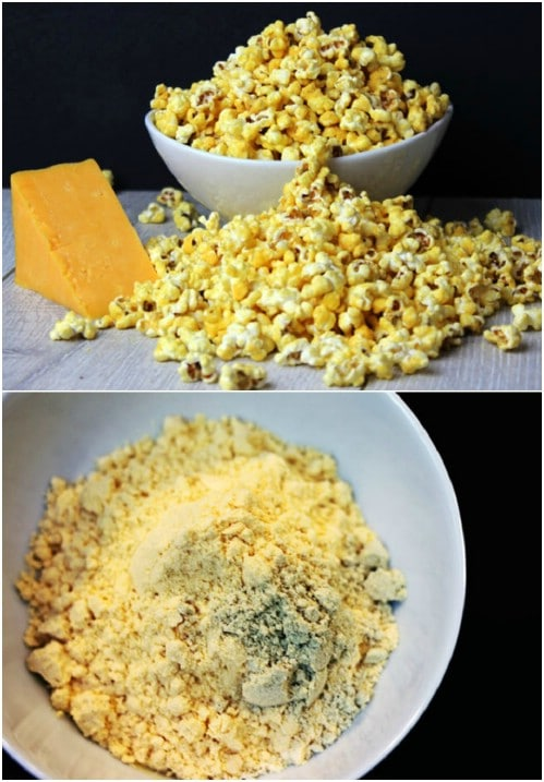 Microwave Cheddar Cheese Popcorn