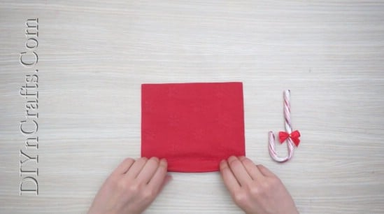 Candy Cane Umbrella - How to Fold These 5 Easy and Decorative Christmas Napkins