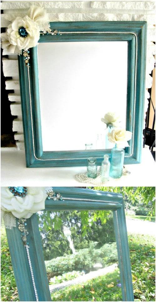 DIY Shabby Boho Mirror