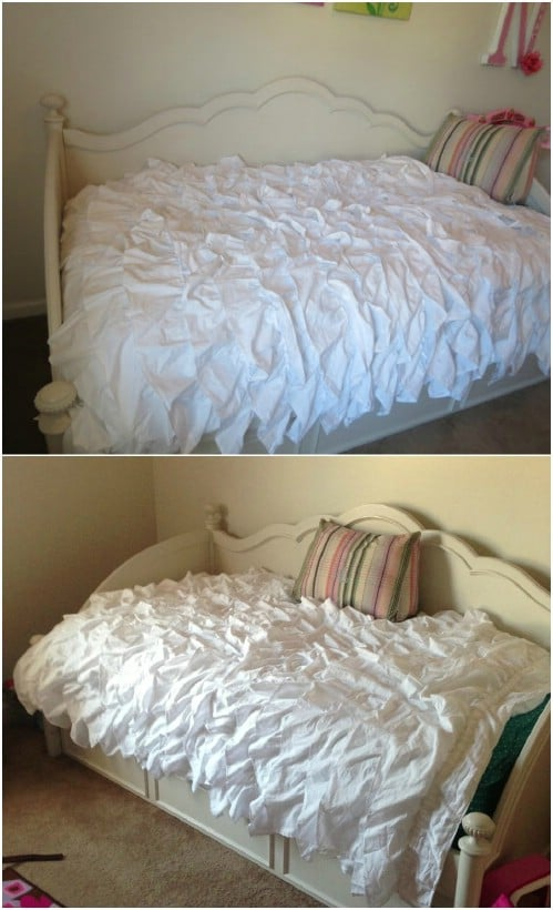 DIY Urban Outfitters Inspired Ruffled Duvet Cover