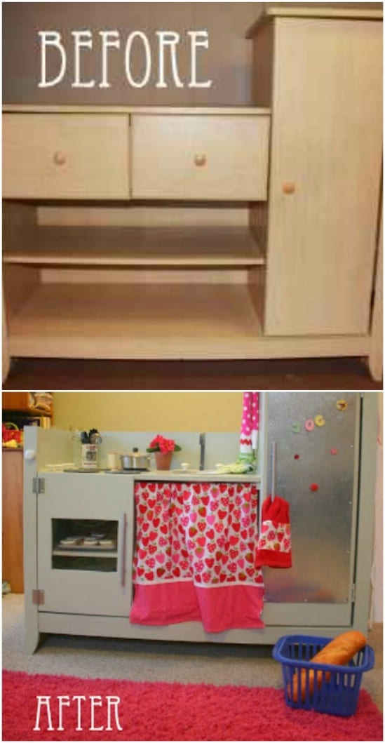 DIY Play Kitchen From Changing Table