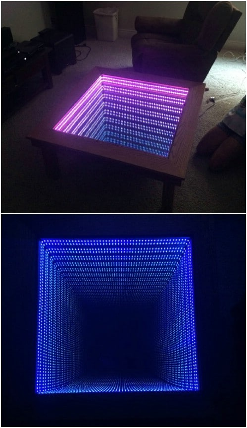Easy Wooden Infinity Table