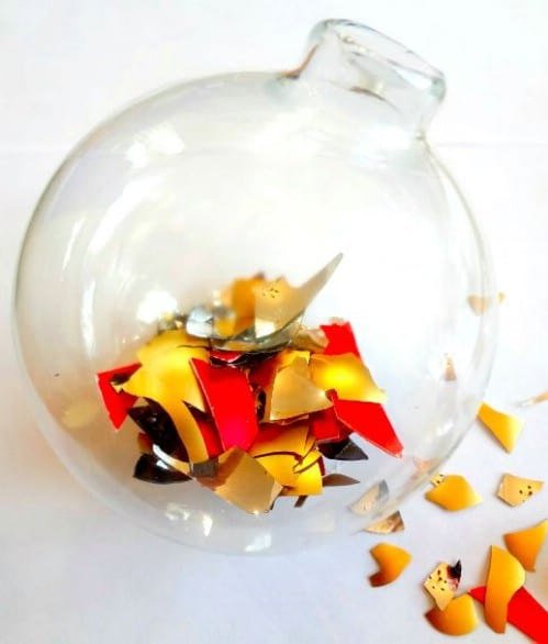Upcycled Broken Ornament Ornament