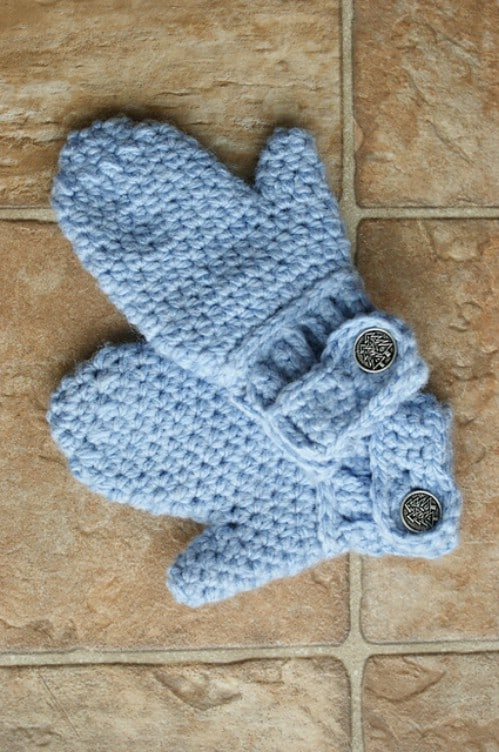 Easy Button Cuff Mittens
