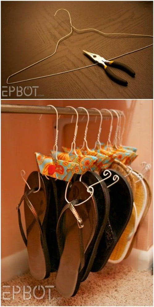 DIY Flip Flop Organizer