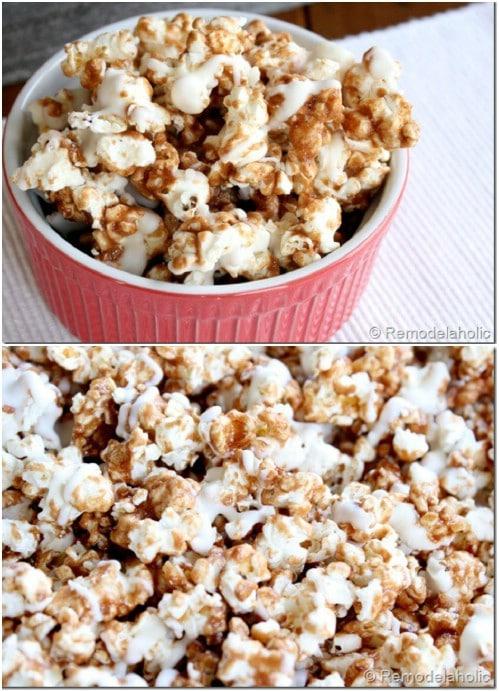 Homemade Gourmet Cinnabon Popcorn