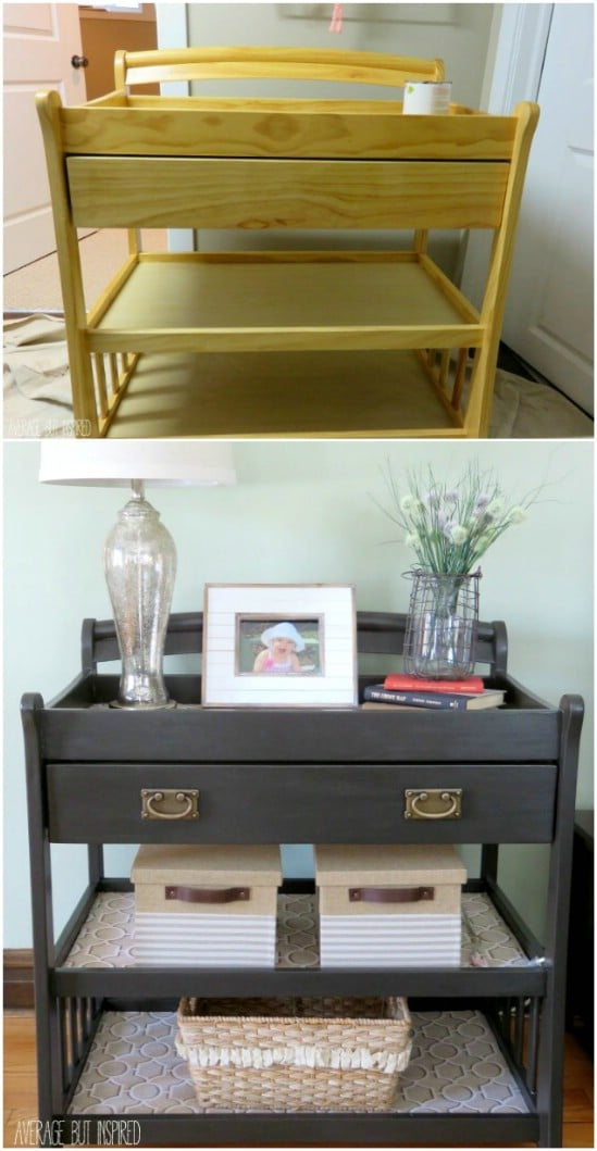 Repurposed Changing Table Console Table
