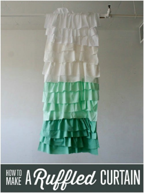 DIY Shabby Chic Ruffled Curtain