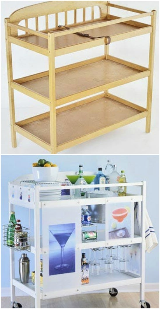 DIY Rolling Beverage Station