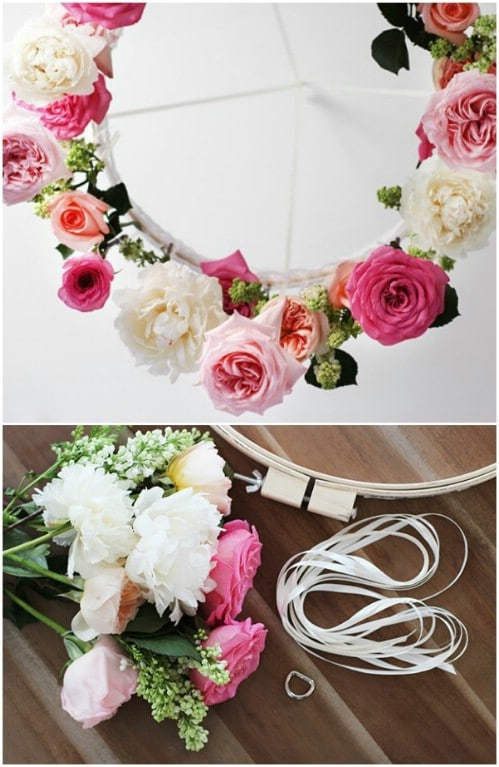 Chic DIY Flower Chandelier