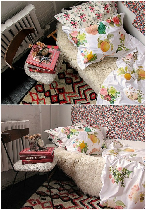 Iron Transfer Floral Duvet Cover