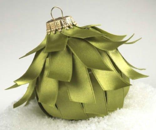 DIY Ribbon Covered Ornament