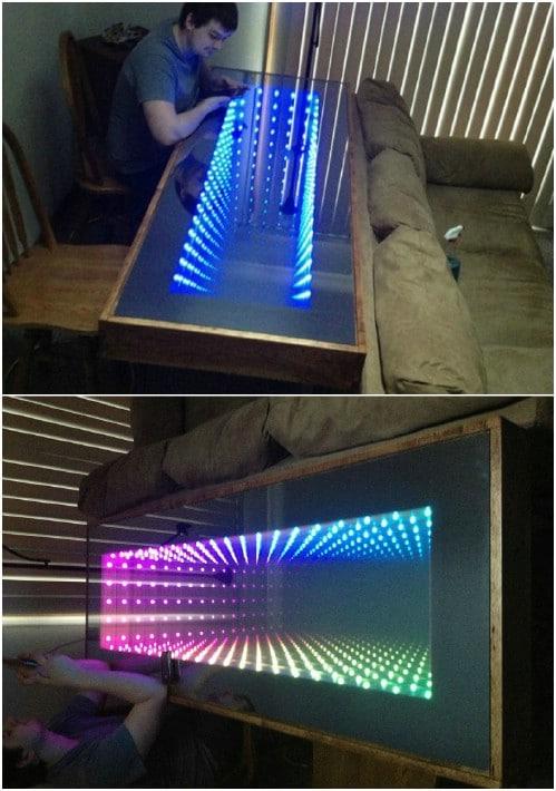 DIY Infinity Sofa Table