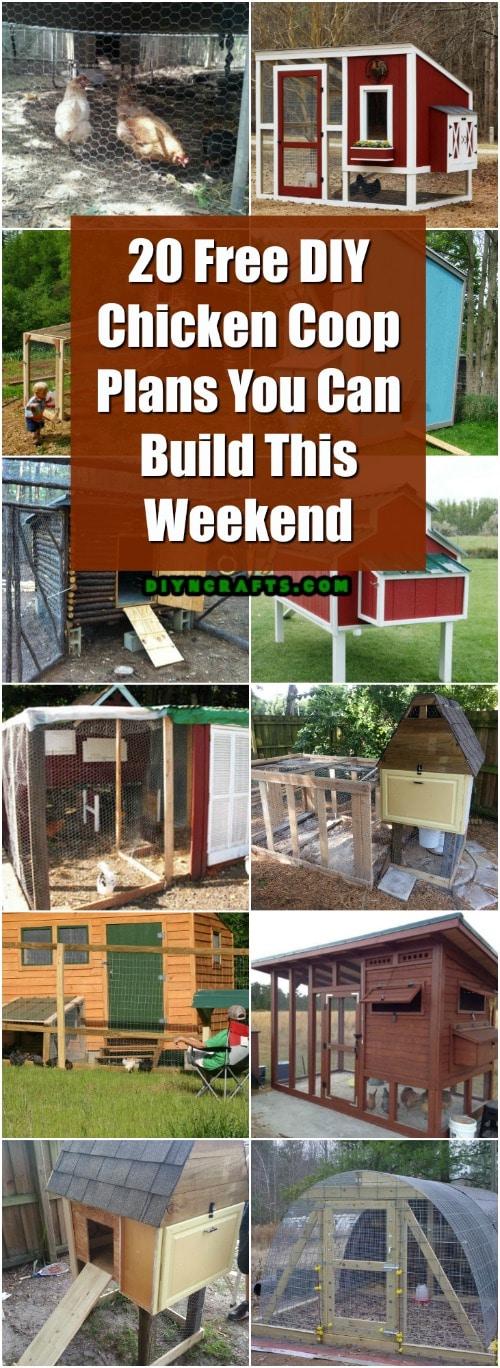 22 Low Budget Diy Backyard Chicken Coop Plans: 20 Free DIY Chicken Coop Plans You Can Build This Weekend