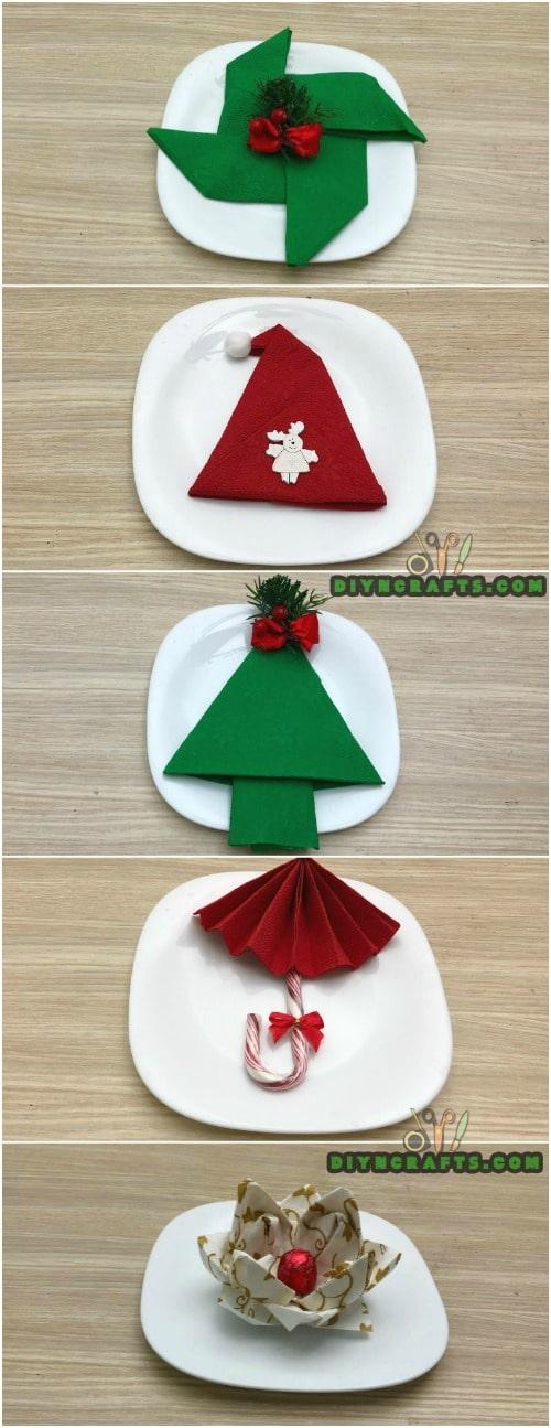 Fold Napkin Like Christmas Tree.How To Fold These 5 Easy And Decorative Christmas Napkins